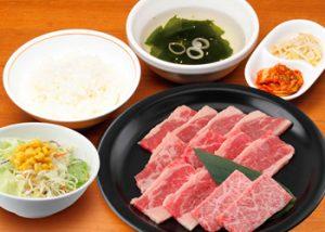 焼肉宝島「カルビ+奥羽牛ランチ」1250円